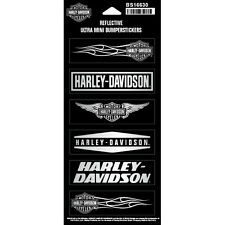 "Harley-Davidson® Logos Reflective Ultra Mini Bumper-stickers (3.5""x1"") BS16630"