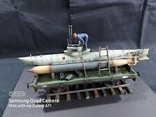 1/35 Built German Midget Submarine On A Railway Flatbed