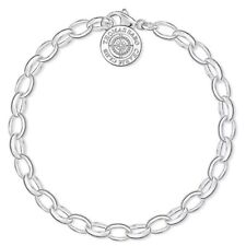 Thomas Sabo Charm Club Silver Bracelet With Diamond DCX0001-725-14-S £60
