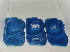 New listing Reptile ramp blue Food Dish Bowl, Worm Water Dish Small Lizard Gecko Pet lot