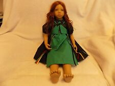 """1995 Madina! Annette Himstedt! 10th Anniversary Doll! 28""""! Red Hair! GUC! Cute!"""