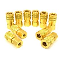 Foster Solid Brass Quick Coupler Air Hose Connector Fittings 1/4 Body x 1/8 Npt