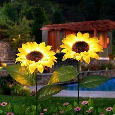 2 Pack Outdoor Yard Garden Solar Power Waterproof Sunflowers Lights Patio Decor
