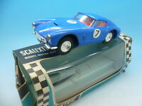 Scalextric C69 Ferrari GT without lights in blue, boxed Mint