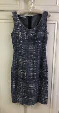 Prada Tweed Knee-Length Dress White Blue IT38 $1250