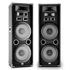 """Enceinte DJ PA Passive 3 Voies Full Range Subwoofer 2x12"""" 40x112x29cm 2000W Noir"""