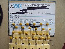 25 St.  AVX Kerko 0,1µF-100V  X7R   RM 2,54 10%