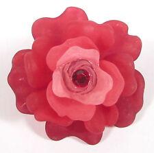 SoHo Brosche Rosen Blüte weinrot fuchsia retro Blumen Schmuck Anstecknadel rot
