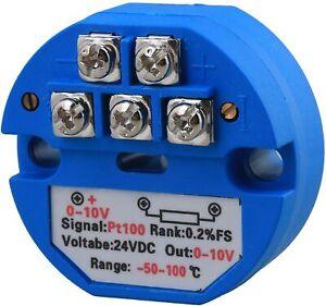 BQLZR RTD PT100 Temperatur Messumformer DC24V Minus 50~100¡ãC Ausgang 0-10V