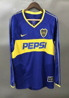 Boca juniors 2003 2004 Long sleeve Home Retro Soccer Jersey Football Shirt