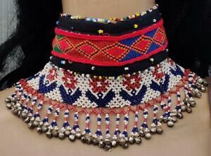 Boho Banjara Tribal Kuchi Afghan Handmade Vintage Gypsy Beaded Choker Necklace