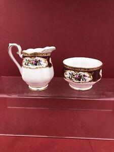 ROYAL ALBERT LADY HAMILTON CREAM AND SUGAR FOR A COFFEE Set Set 1st Quality