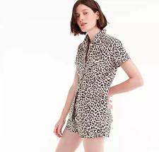 BNWT NEW J.CREW shop made Leopard Print Pajamas PJ Set Top Shorts well X-SMALL!