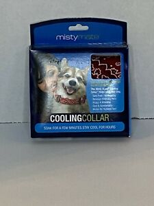 Misty Mate Pet Cooling Collar In Red NEW