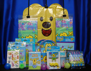 Wow Wow Wubbzy Party Set # 18 Cups Plates Napkins Tablecover Invites Game Candle