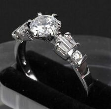 Beautiful Silver Crystal Ring Size: 8 or Q ~ Plus A Free Gift Pouch ~ UK Seller