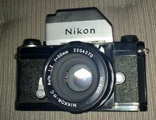Nikon F 35 mm Film Fotocamera (1969), Photomic T Prisma, Nikkor-H-C 50 mm f2 Lens