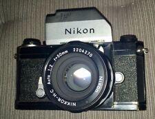 Nikon F 35 mm Film Camera Body (1969), Photomic T Prisme, NIKKOR-H-C 50 mm f2 Lentille