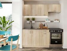 MODERN Kitchen 5 Units Cabinets Set Sonoma Oak Cupboard 180cm Budget Cheap Small