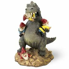 """The Great Garden Gnome Massacre Dinosaur Big Mouth Toys 9"""" Novelty Gift Ornament"""
