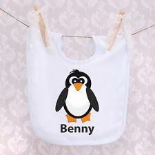 Personalised Baby Bib - Penguin Design