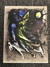 "Original Marc Chagall ""The Angel"" Lithograph - 1960 Mourlot Lithographs Volume I"
