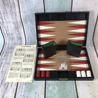 Vintage Backgammon by Design Philipp in Faux Black Leather Briefcase Complete
