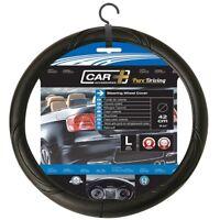 Black Van Steering Wheel Cover - Glove Universal 4143cm Truck Pvc 42cm Easy Fit