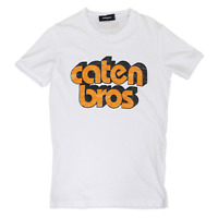 Dsquared2 Faded Caten Bro's T-Shirt In White RRP £185 *SOLD OUT WORLDWIDE🌍*