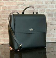 Kate Spade Somerville Road Megyn Leather Backpack Shoulder Bag $379 Black
