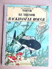 Hergé - Tintin. Le Trésor de Rackham le Rouge (Plat B25) 1958