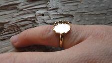 Little Ring Hamilton Gold Plated Adjustable 8x10mm Lacy Bezel (Pkg 6) 0307Childs