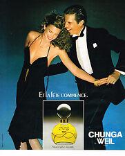 PUBLICITE ADVERTISING 054  1978  CHUNGA  parfum  WEIL