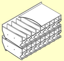 """Stackable Can Rack Plans #10 cans 6 1/4"""" Horizontal S625"""