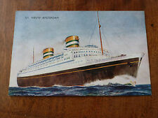 J036 SS NIEUW AMSTERDAM Salmon 5C24 Postcard