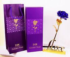 6683 Colorful 24K Gilded GSS Imitation Gold Foil Rose Rose Bouquet Rose Flower