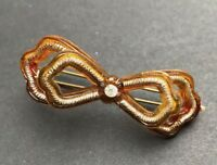 Gorgeous 1940s Lucite + Diamante Bow Hair Grip