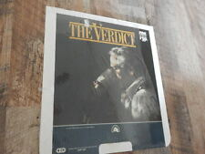 CED Videodisc 1983 The Verdict STILL SEALED-Paul Newman, Jack Warden-2 Discs!