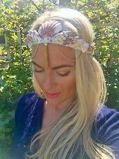 Brown Natural Sea Shell Mermaid Crown Tassel Hair Head Band Choochie Choo Beach