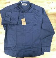 Mens Capsule Long Sleeved Navy Blue Military Shirt - UK Size XL 45/47 Chest