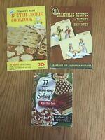 3 vintage ad cookbooks swiftning grandmas molasses pillsbury