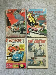 4 Charlton Comics - Hot Rods (1957-1959)
