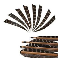 "24pcs Shield Cut Archery Right Wing 5"" Turkey Wooden Arrow Feather Fletching DIY"