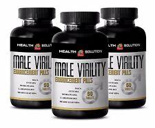 Amino acid - MALE VIRILITY ENHANCEMENT PILLS - Relax smooth muscles - 3 B, 180