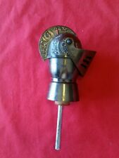Vintage Wine Bottle Stopper / Pourer Decorated Knights Helmet