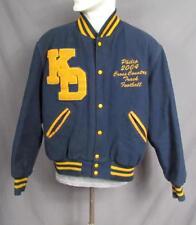 Vintage High School Varsity Club Jacket 3 Sport Letterman 'KD' Chenille Patch Lg