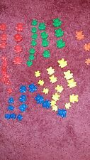 Vintage Teddy Bear Counters 59 Pieces Plastic Bears mixed colors & sizes