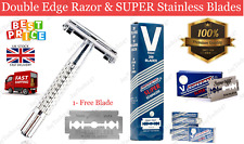 JOX Butterfly Safety Razor Double Edge Professional SUPER Stainless Razor Blades