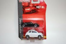 Majorette Cars 212053070 - 1/64 2Er Set Genty Akylone & Fiat 500 - Neu