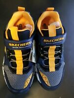 Skechers Adventure Kids VELOCITREK Sneaker, Navy/Black, Boys Size 1 (NEW)